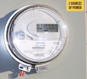 A bilateral meter tracks what you use and the solar power you feed back with an alternating display