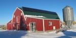 Solar Array provides green power for the whole farmyard