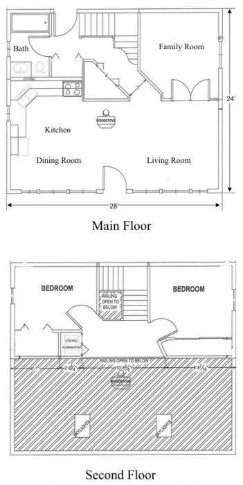 Floorplan for our Experimental Solar House