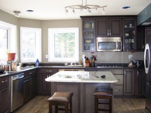 The Gardenview has a bright, sunny kitchen