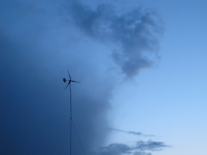Our Wind Turbine in an Oncoming Storm