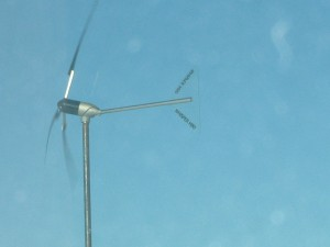 Whisper 200 wind turbine furling at high wind speeds